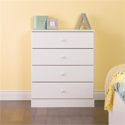 4 Drawer Chest in White