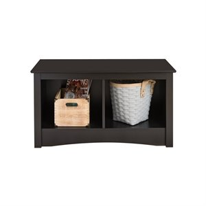 Black Twin Cubby Bench