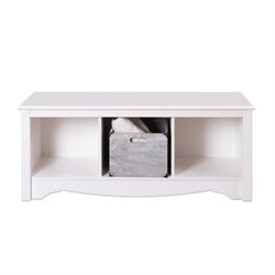 White Cubby Bench