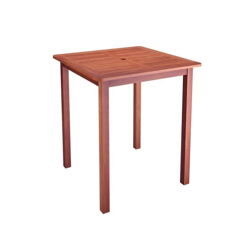 hardwood patio pub table in cinnamon brown pex 263 t