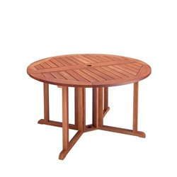 Drop Leaf Patio Dining Table in Cinnamon Brown