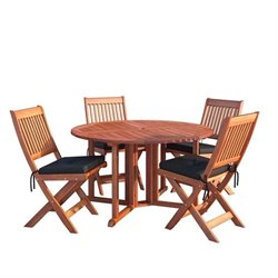 5 Piece Patio Dining Set in Cinnamon Brown