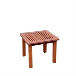 CorLiving Miramar Hardwood Patio Side Table in Cinnamon Brown