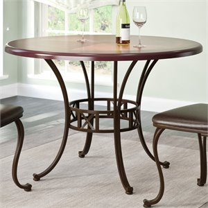 Metal Dining Table in Rustic Brown