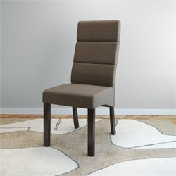 Upholstered Side Chair in Brown (Set of 2)