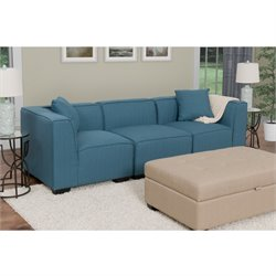 3 Piece Sectional Sofa in Blue