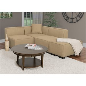4 Piece Left Facing Sectional in Beige