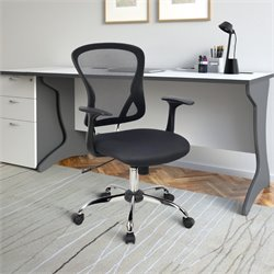 Contoured Mesh Back Office Chair in Black