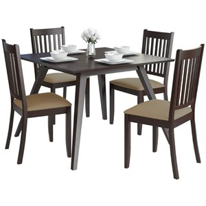 CorLiving Atwood 5 Piece Dining Set with Microfiber Seat