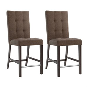 CorLiving Bistro Counter Dining Chairs with Chrome Footrest
