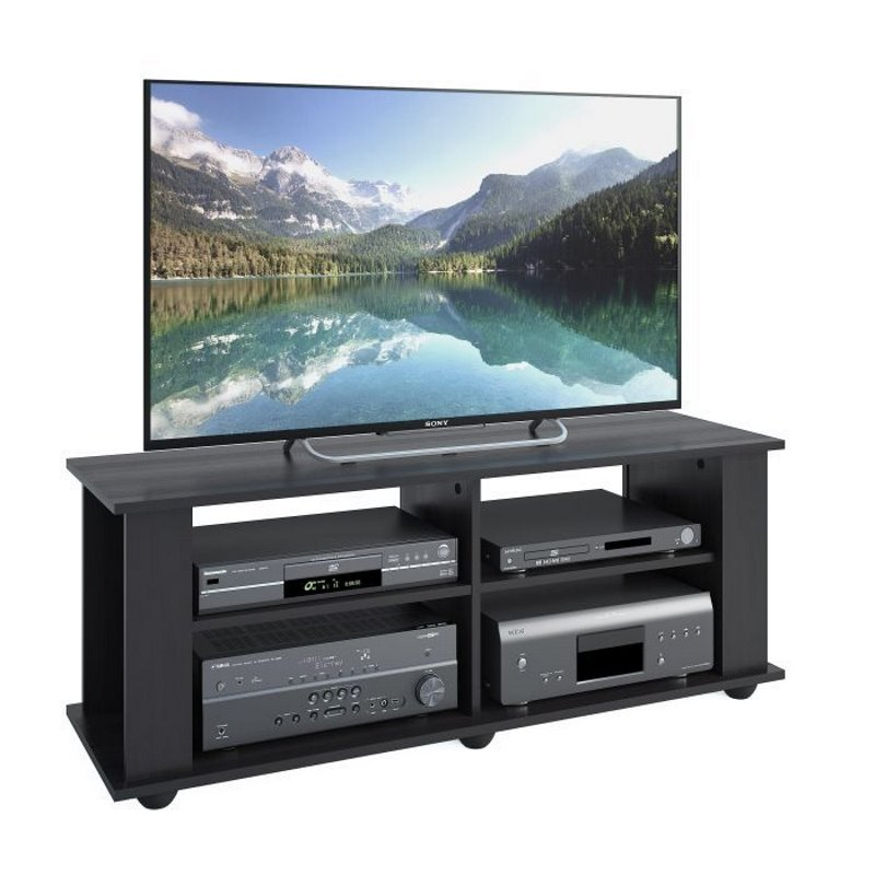 Corliving Fillmore Tv Bench In Midnight Black For Tvs Up To 55 Fs 3480