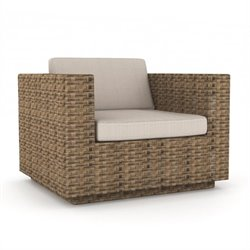 Corliving Park Terrace Outdoor Chair in Saddle Strap Weave