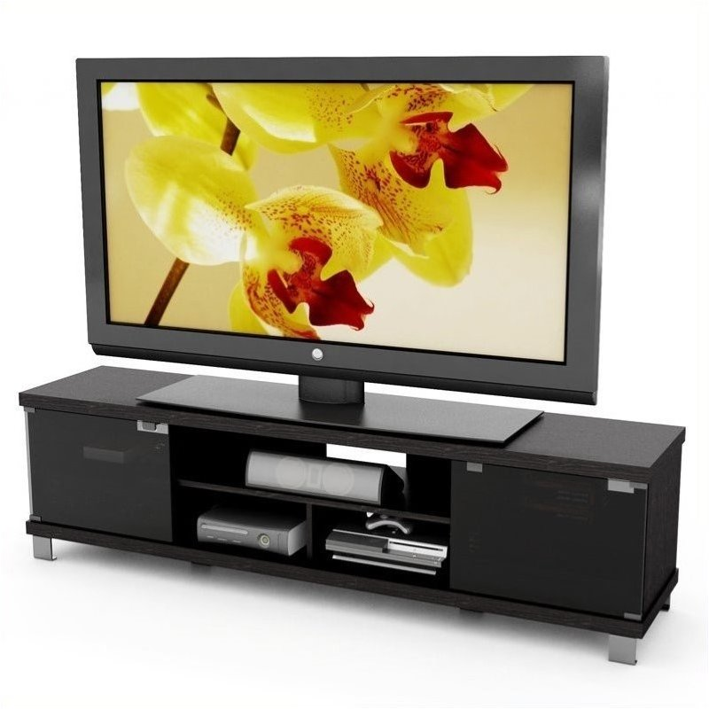 71 Quot Extra Wide Tv Stand In Ravenwood Black B 207 Cht