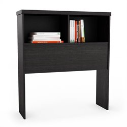 Sonax Willow Bookcase Headboard in Ravenwood Black - Full
