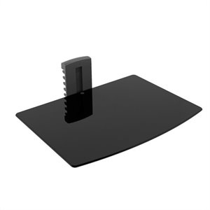 Media Player Wall Shelf in Black