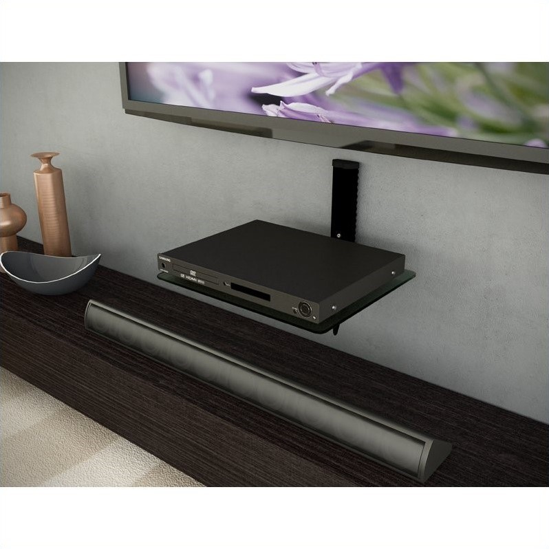 Corliving Twin (Single) Component Wall Shelf in Black