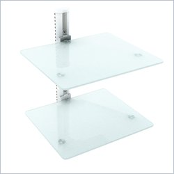 Corliving Double Component Wall Shelf in White