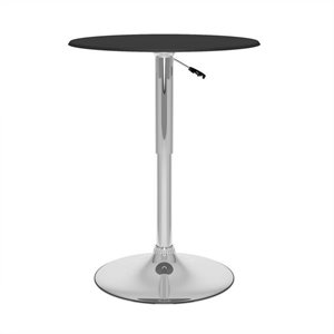 Bar Table in Black Leatherette