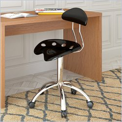 Sonax CorLiving Workspace Form Fitting Office Chair in Black