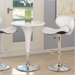 Sonax CorLiving 3 Piece Height Bar Table Pub Set in White