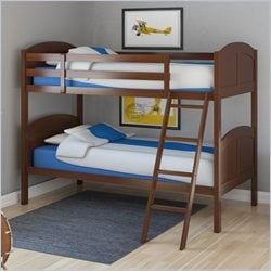 Sonax CorLiving Concordia Solid Wood Twin Bunk Bed in Espresso Brown