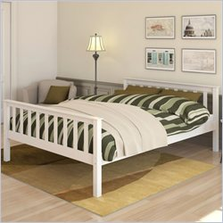 Sonax CorLiving Monterey Solid Wood Platform Bed in White - Full Size