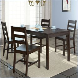 Sonax CorLiving 5 Piece Dining Set in Cappuccino