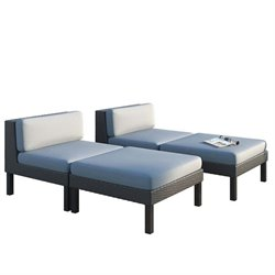 Sonax CorLiving Oakland Lounger Patio Set (Set of 4)