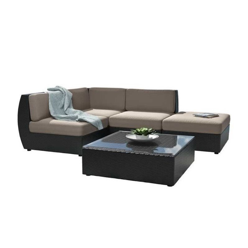 Curved 5 pc sectional chaise lounge patio set pps 601 z for Curved lounge