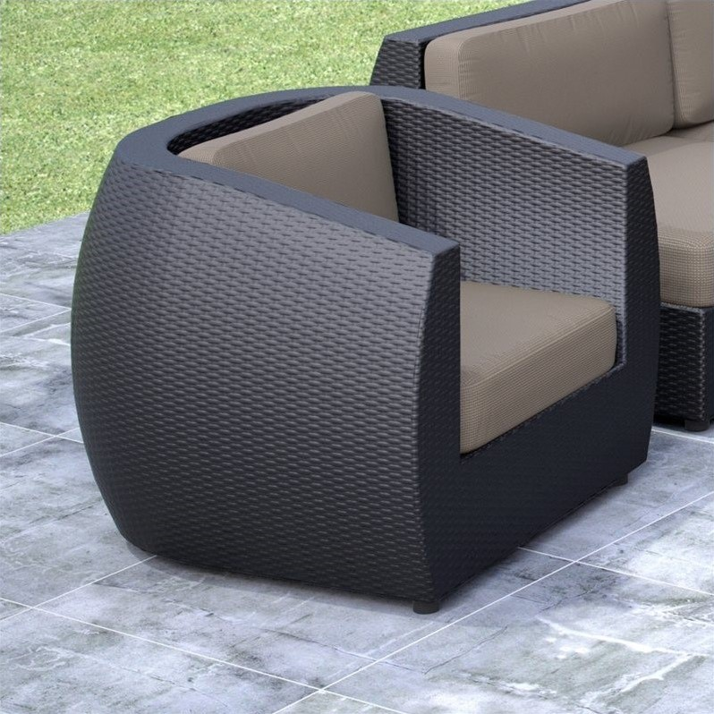 Patio Chair in Textured Black Weave