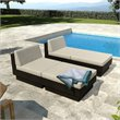 4 Piece Chaise Lounge Set in Black