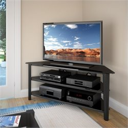 CorLiving Alturas Black Stained Wood Veneer TV Stand
