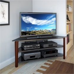 CorLiving Alturas Wood Veneer TV Stand in Dark Espresso