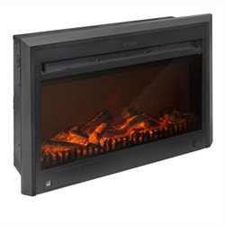 Corliving Electric Fireplace Insert in Black