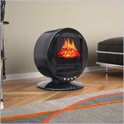 Corliving Desktop Fireplace Space Heater in Black