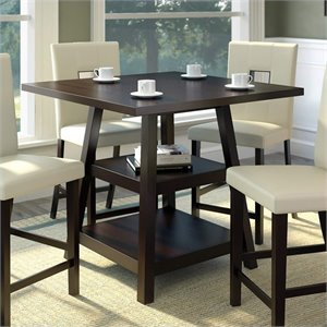 Sonax CorLiving Bistro Counter Height Dining Table in Cappuccino