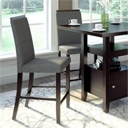 Sonax CorLiving Bistro Dining Chairs in Pewter Grey Sand Fabric (Set of 2)