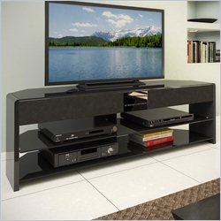 Sonax CorLiving Santa Brio Glossy Black TV Stand with Sound Bar for TVs up to 70