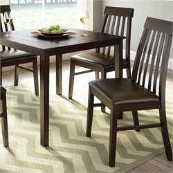 Sonax CorLiving Tapered Back Dining Chairs in Chocolate Black Bonded Leather (set of 2)