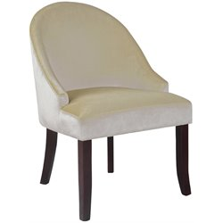 Sonax CorLiving Antonio Accent Barrel Chair in Ivory