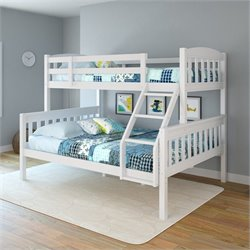 Twin-over-Full Bunk Bed in Snow White