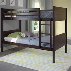 Sonax CorLiving Ashland Twin Single Panel Bunk Bed in Dark Cappuccino
