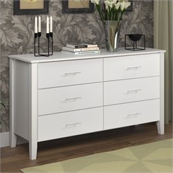 Sonax CorLiving Ashland Wide Dresser in Snow White