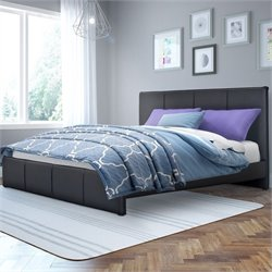Sonax CorLiving Fairfield Full Double Bed in Black Bonded Leather