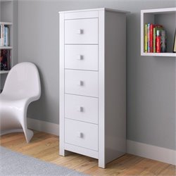 Sonax CorLiving Madison Tall Boy Chest of Drawers in Snow White