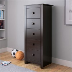 Sonax CorLiving Madison Tall Boy Chest of Drawers Dresser in Rich Espresso