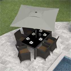 Sonax CorLiving Square Patio Umbrella in Sand Gray