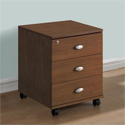 3-Drawer Storage Cabinet in Warm Oak
