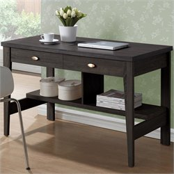 Sonax CorLiving Folio 2-Drawer Desk in Rich Espresso