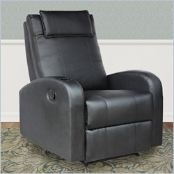 Sonax CorLiving Yalaha Leatherette Reclining Chair in Rich Black